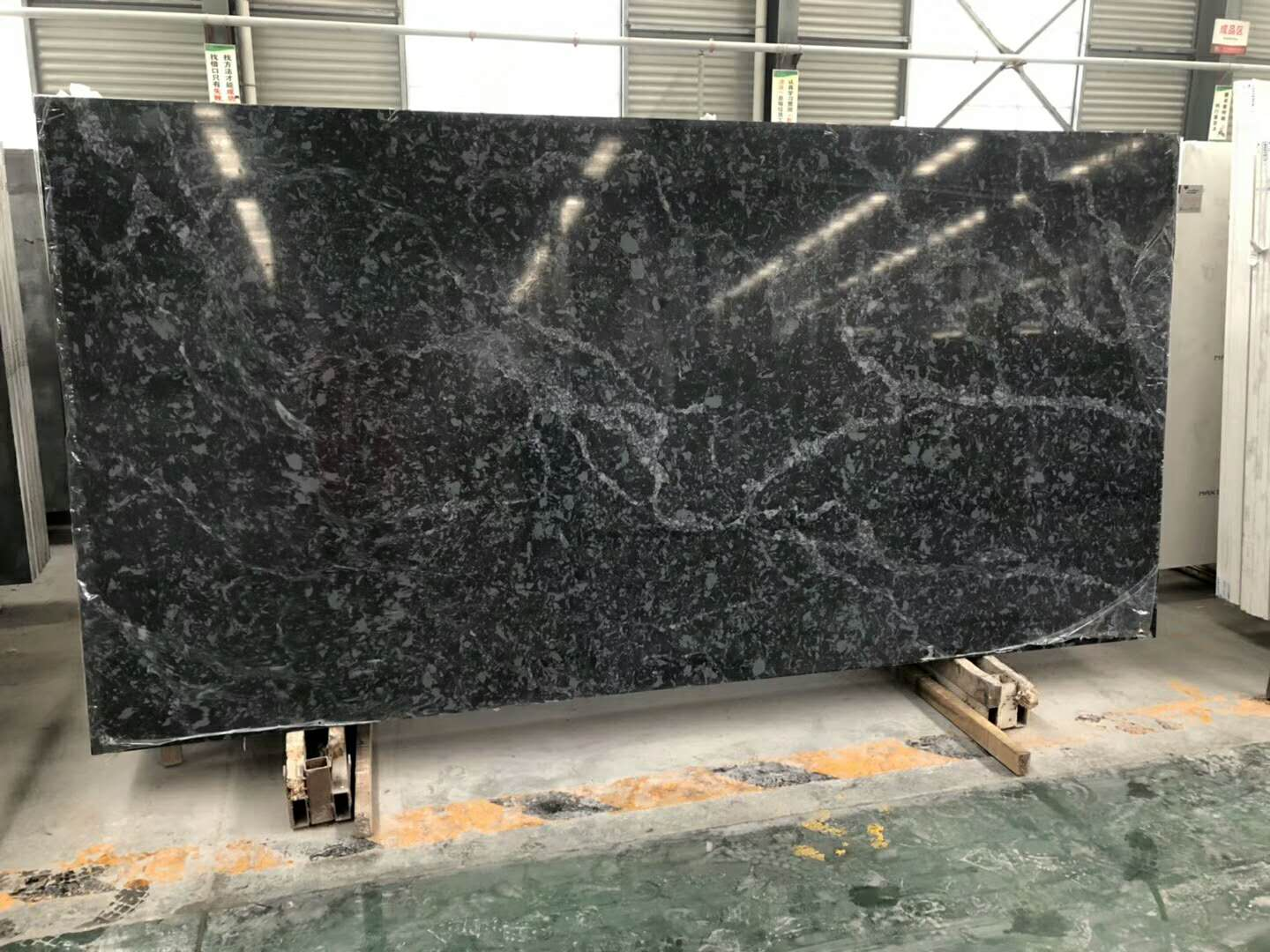 Marble look like artificial quartz stone slabs