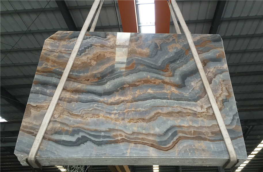 Blue Galaxy Marble Slabs Tiles Blue Marble from China for Countertops Wall Coverings Floor Coverings