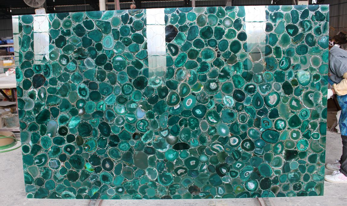 Green Agate Stone Slab