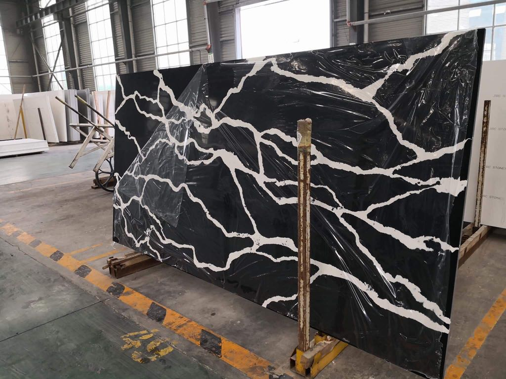 Calacatta Black Quartz Stone Slabs from China