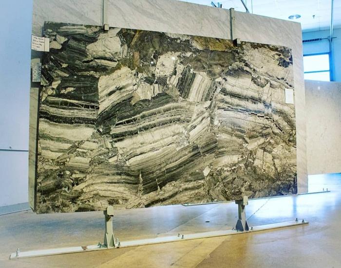 Showroom Granite Stone slab display rack