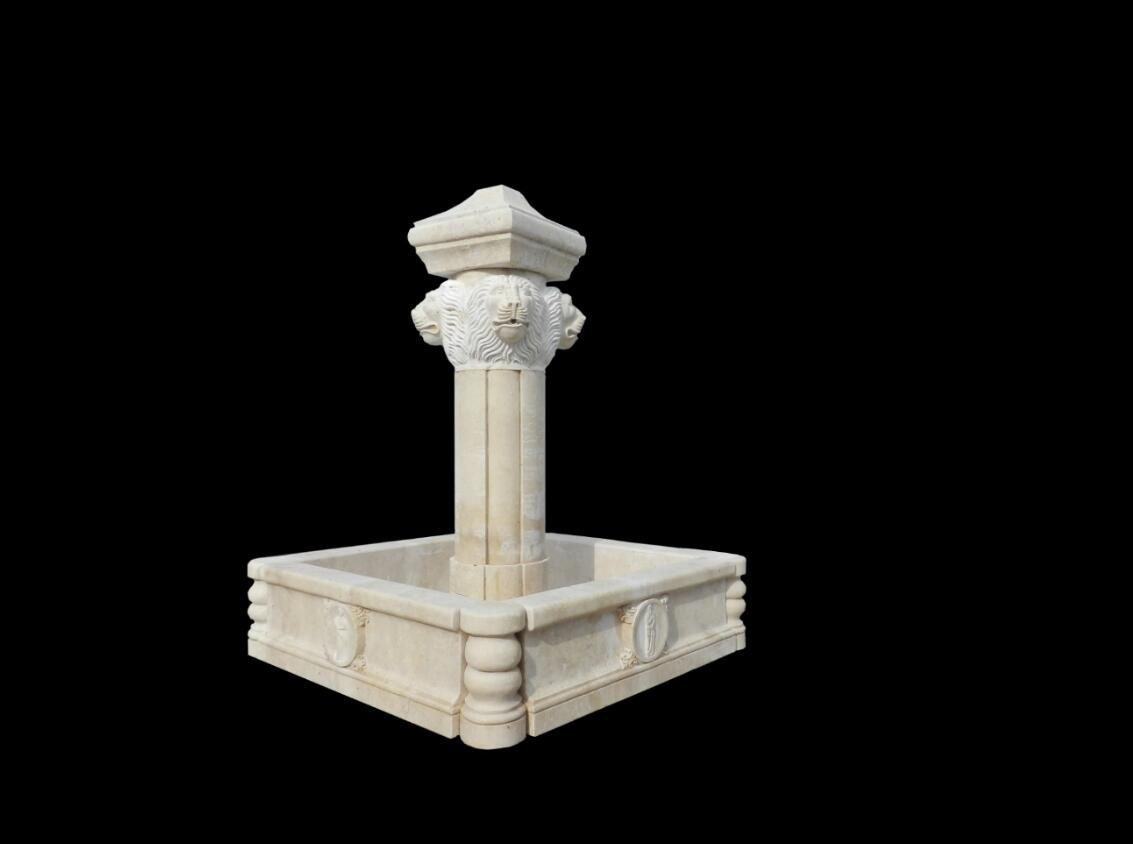 Carved Marble Small Water Fountain