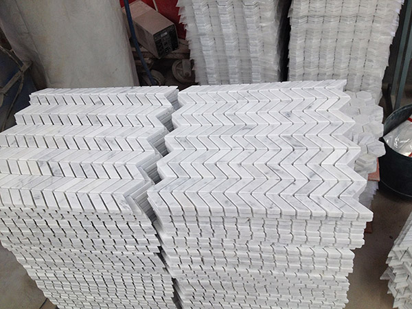 white marble mosaic tiles natural stone tiles