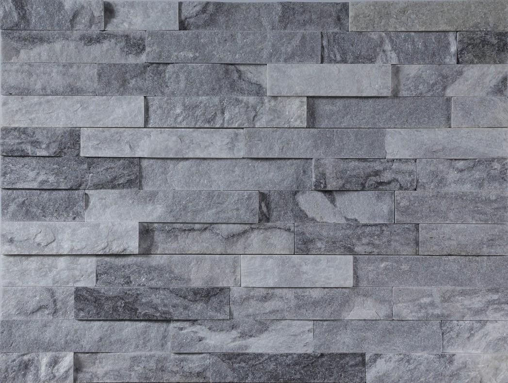 Cloudy quartz culture stone panel