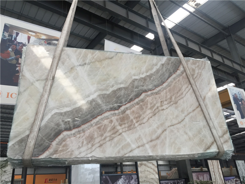 Beige Onyx Slabs Tiles for Wall Covering Floor Covering Countertop