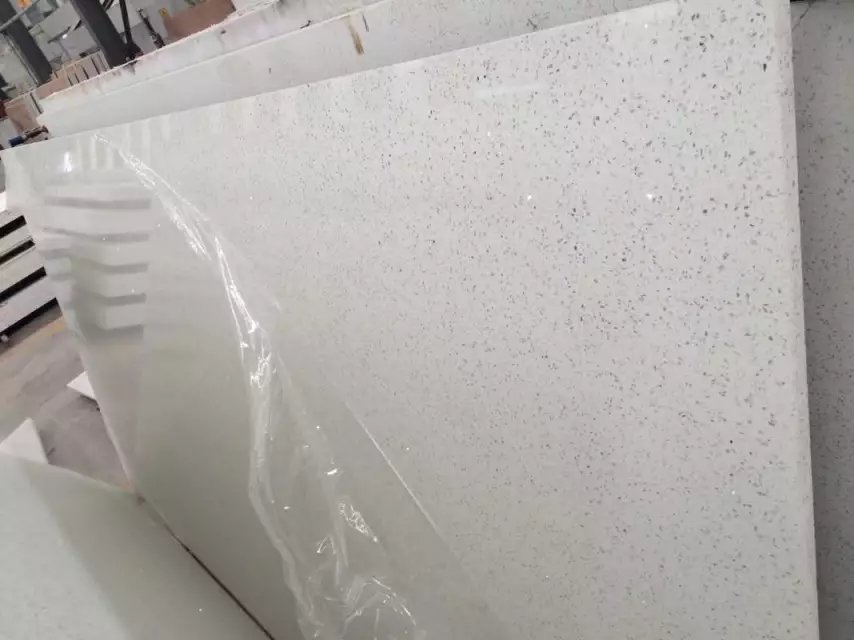 Artificial crystal white quartz slabs