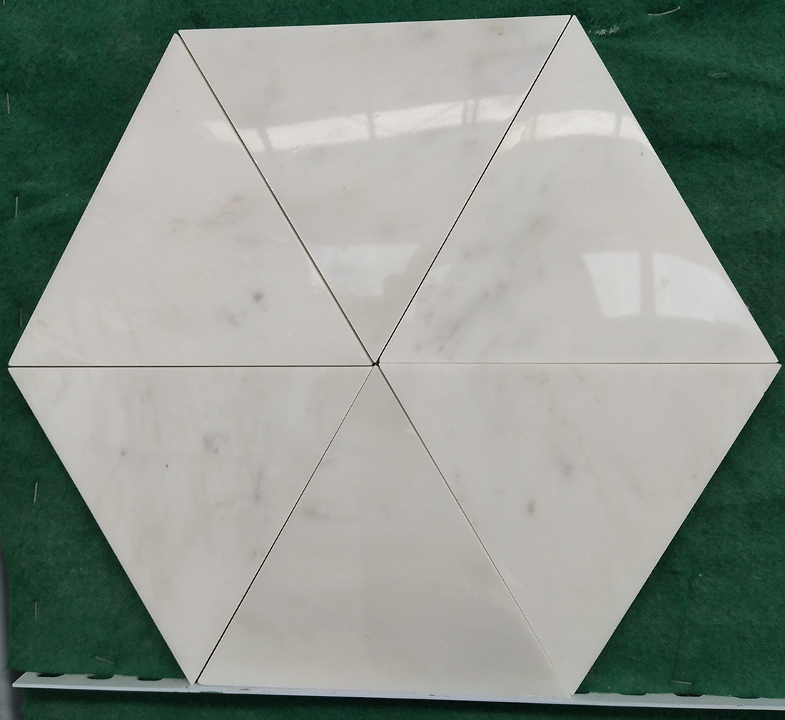 Natural White Marble Tiles Mosaics Hexagon