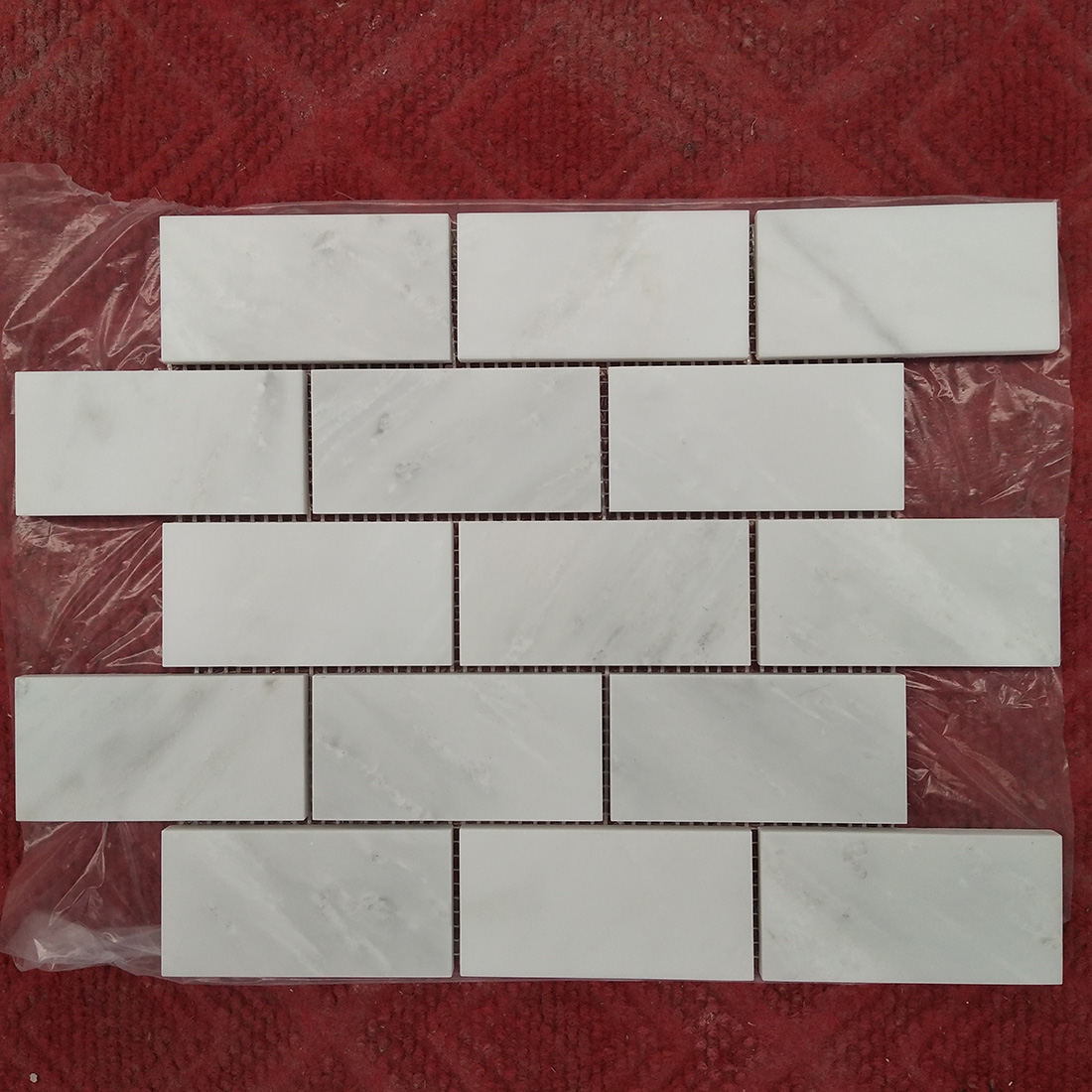 Natural White Marble Mosaics tiles brick subway
