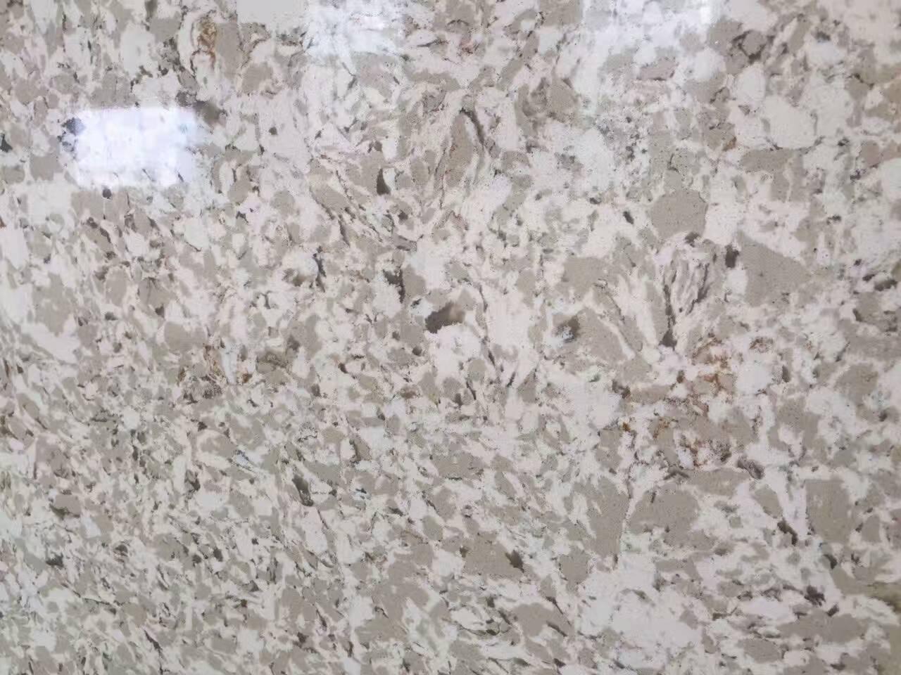 Marble Like Sparkle Artificial Polished Quartz Slabs
