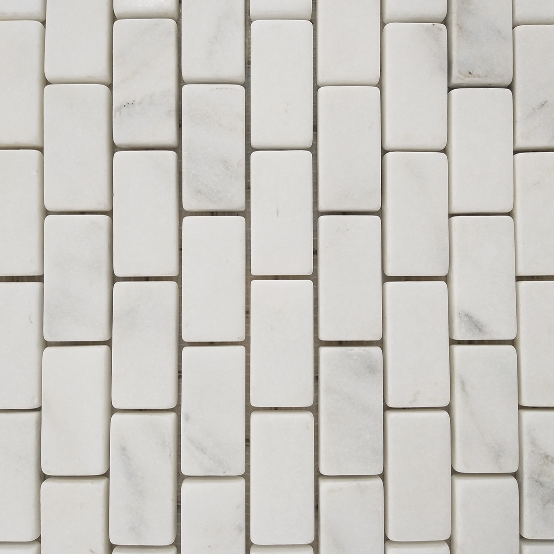 China White marble mosaic tiles honed customized size