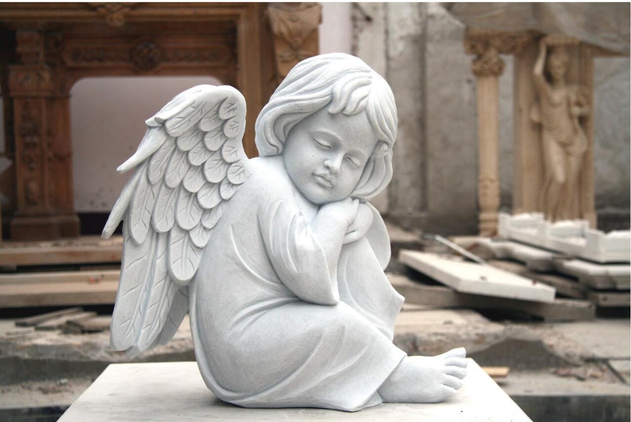 granite cherub statue angel sculpture