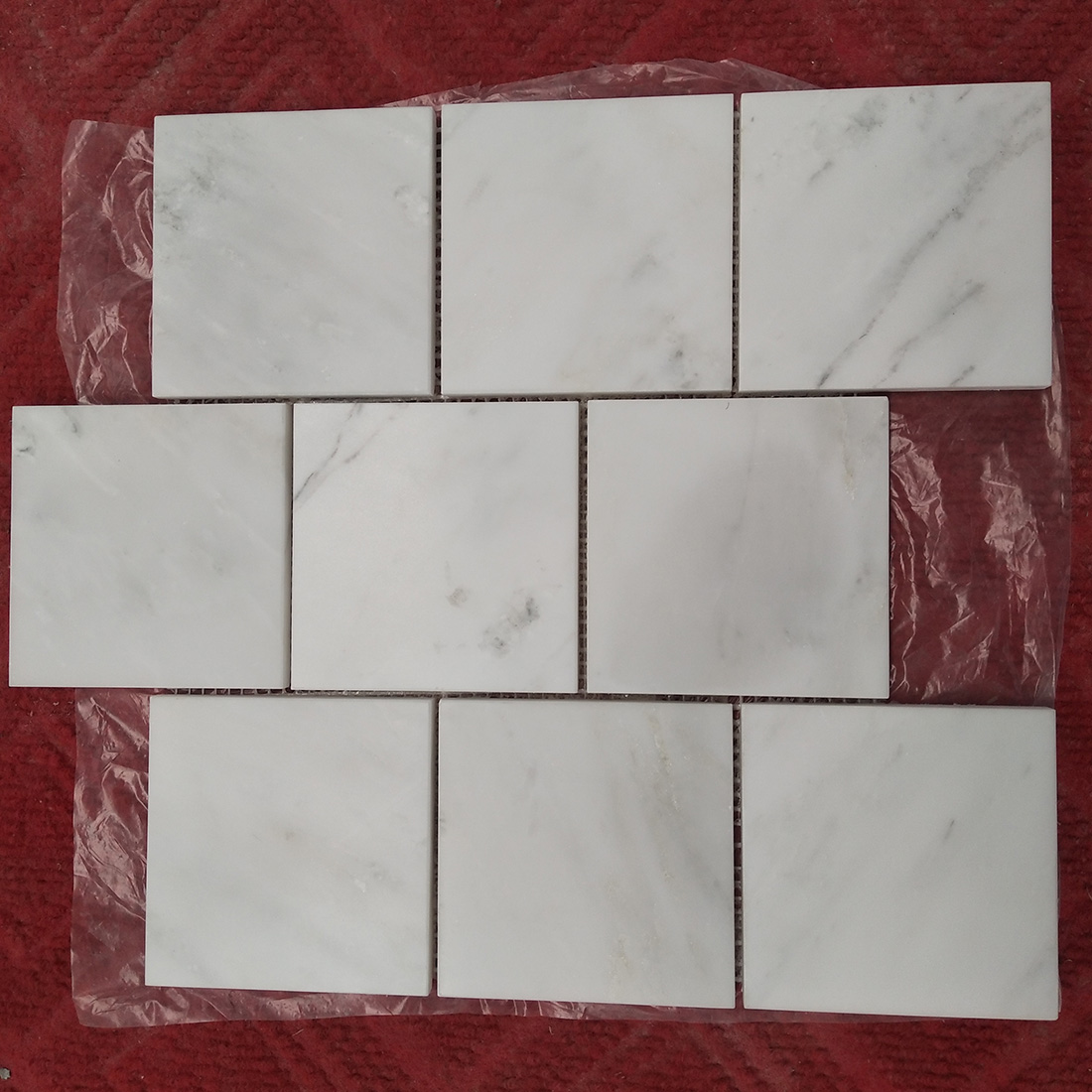 carrara marble square brick mosaic tile customize