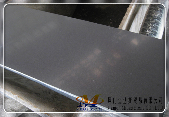 Honed Mongolia Black Basalt Tiles