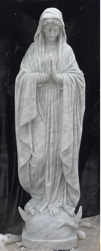 White Marble Virgin Mary Statue Church Mary Statue