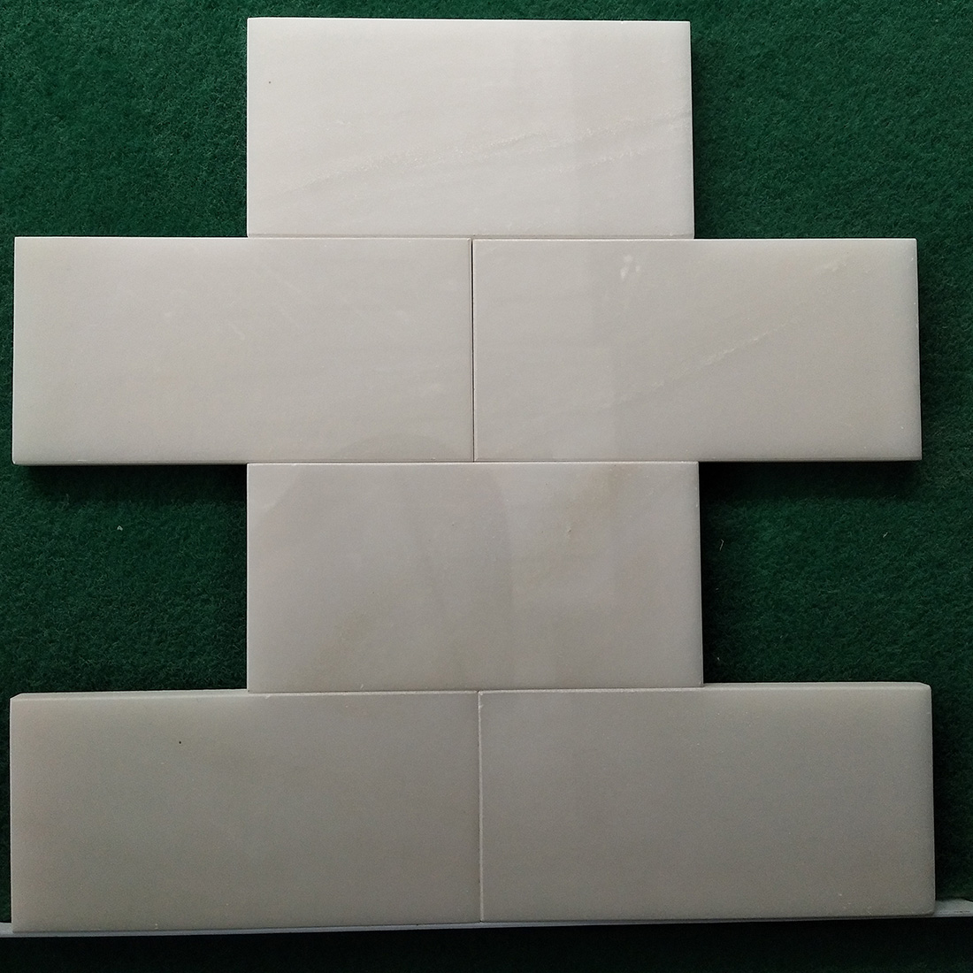 China White marble mosaic tiles polished customized size