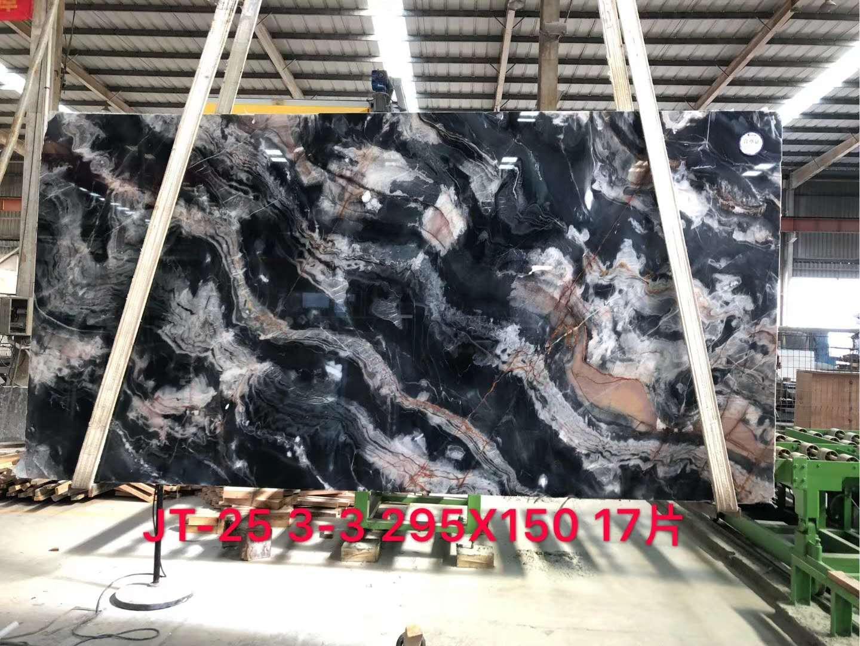 Luis Black Marble Fantasy Black Marble Slabs