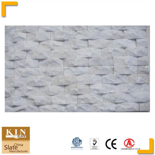 White quartz mushroom stone wall cladding