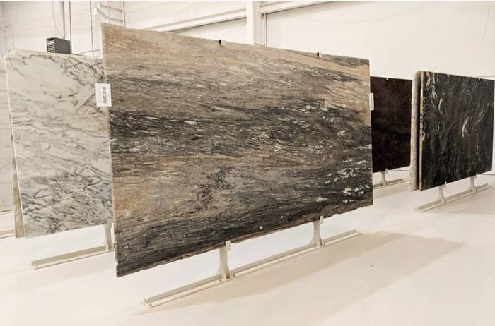 Factory warehouse granite stone slab display rack