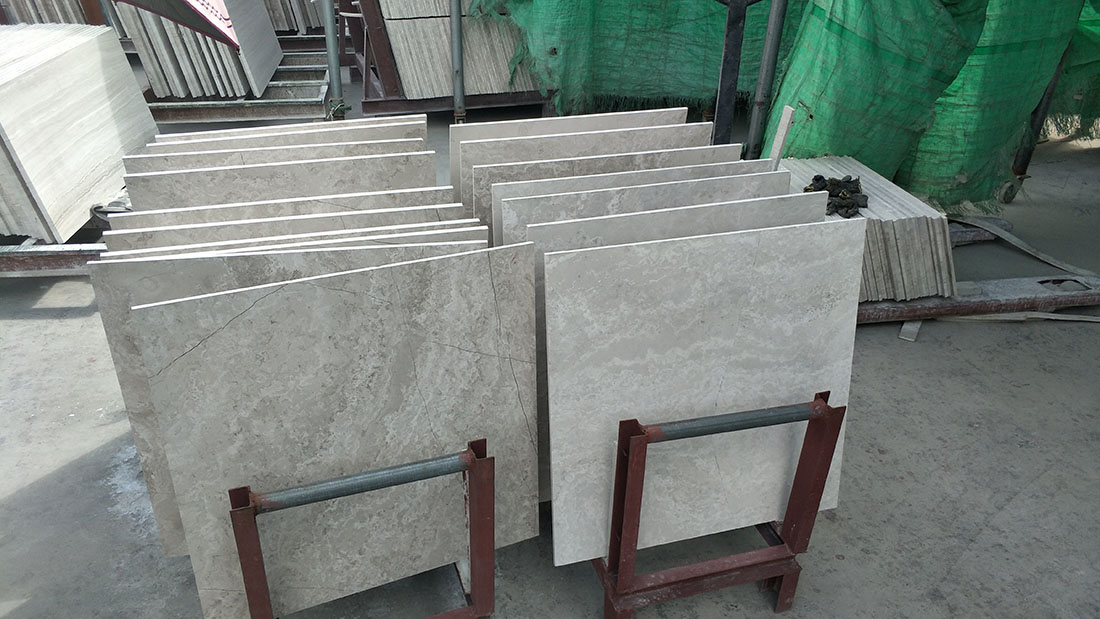 white woodvein cross cut tiles