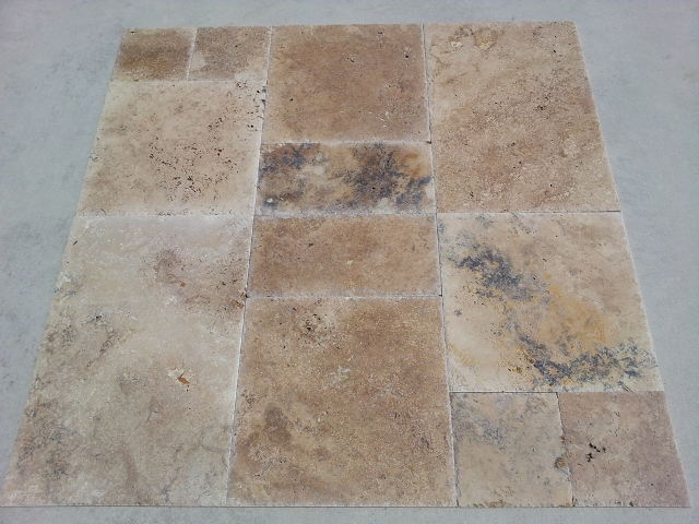 Travertine Tile Brushed Chiseled 1 2