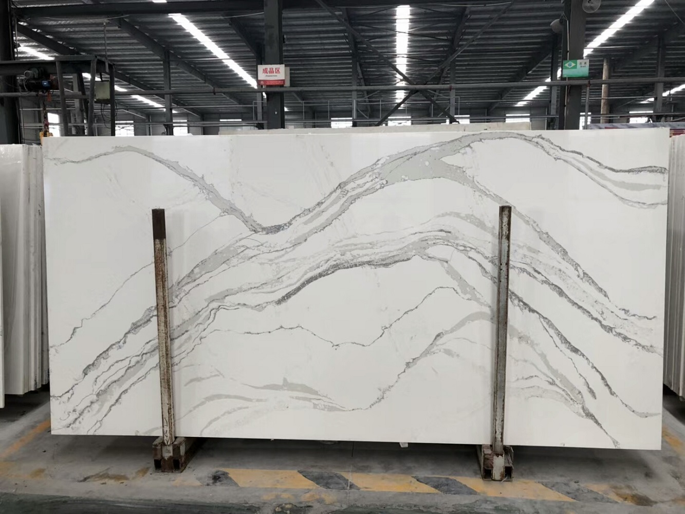 marble look quartz slab