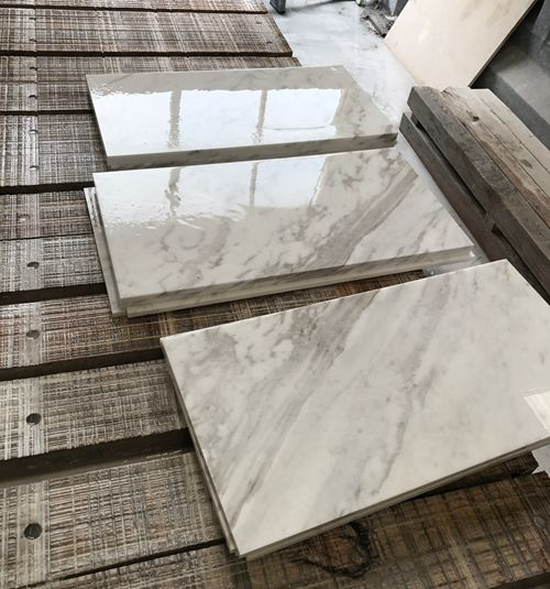 Volakas Tiles  Thin Tiles  White Marble Tiles