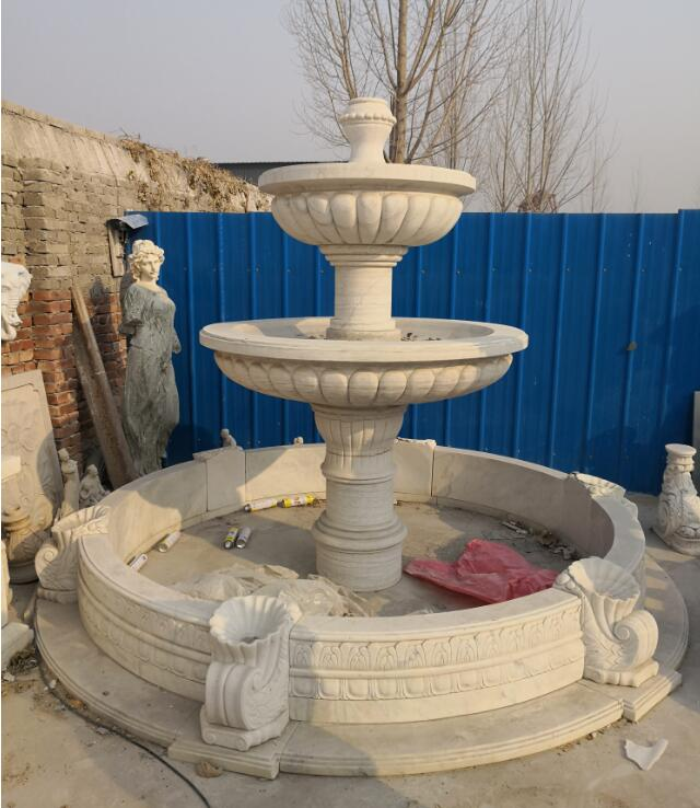 Stone water fountain garden marble fountain