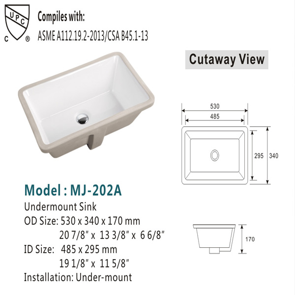 Ceramic Hand Wash Sink