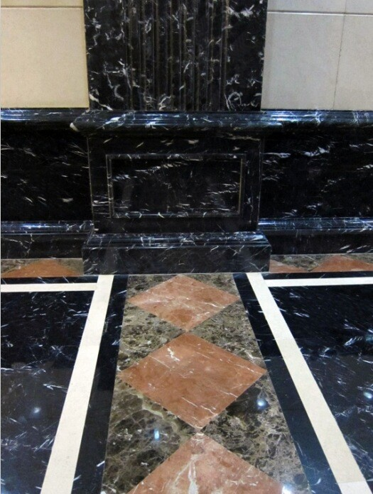 Chinese Crystal Black Marble skirting with polished surface