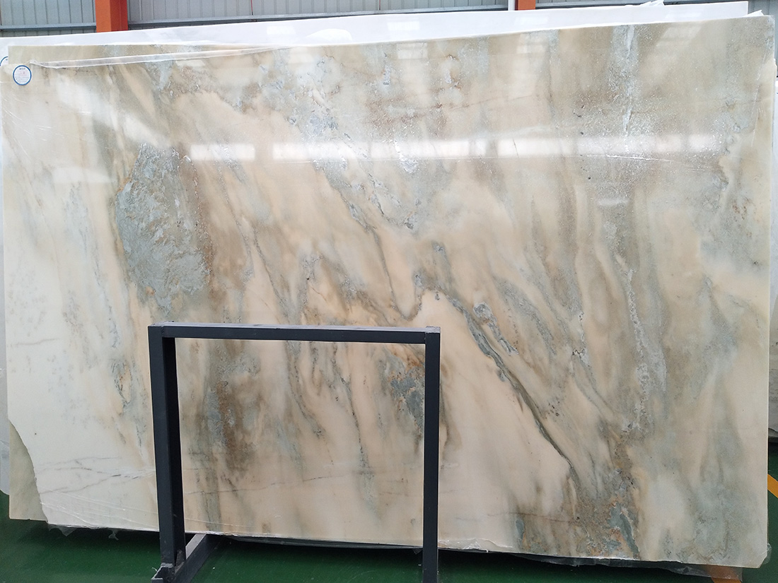 Large quantity of Landscape painting white marble China White