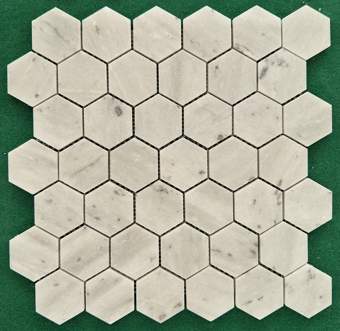 Natural White Marble Mosaics tiles Hexagon