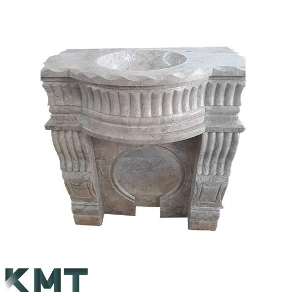 Royal Pedestal Sink  Stone Basin S-15010