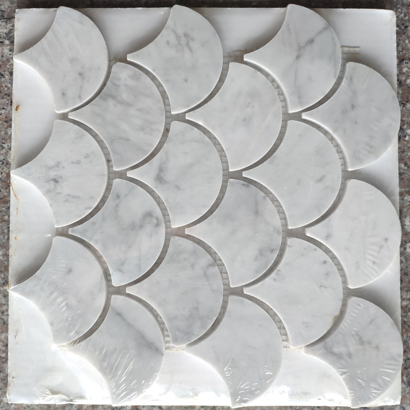 Fan shape Marble mosaic