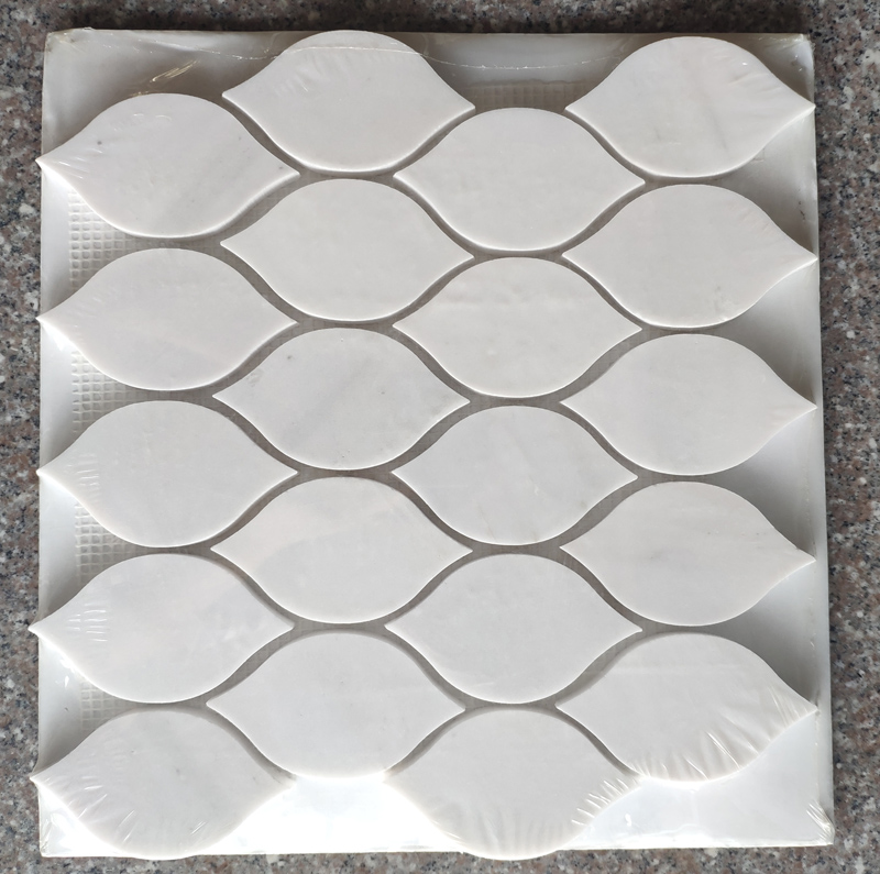 Pure White marble mosaic