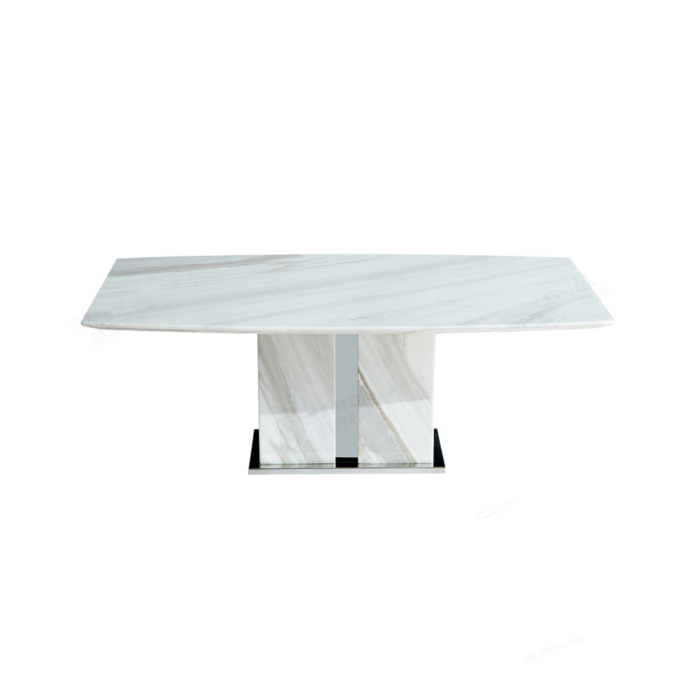 White Marble Short Table