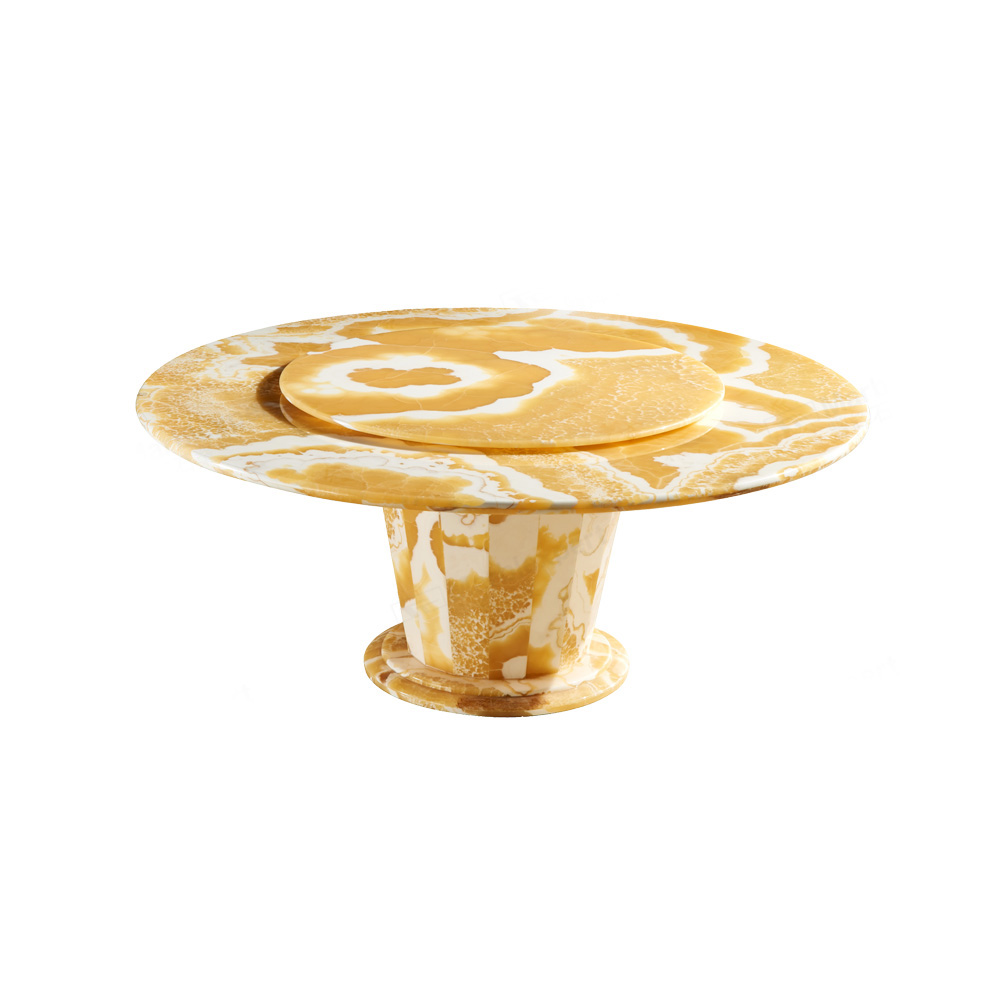 Orange Jade Round Table