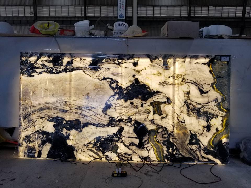 10mm Thin marmore granito onix translucido mesa