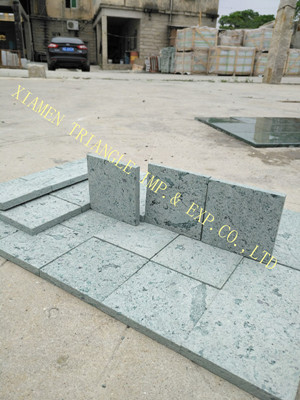 Sawn 10x10cm China Local Sukabumi Green Stone