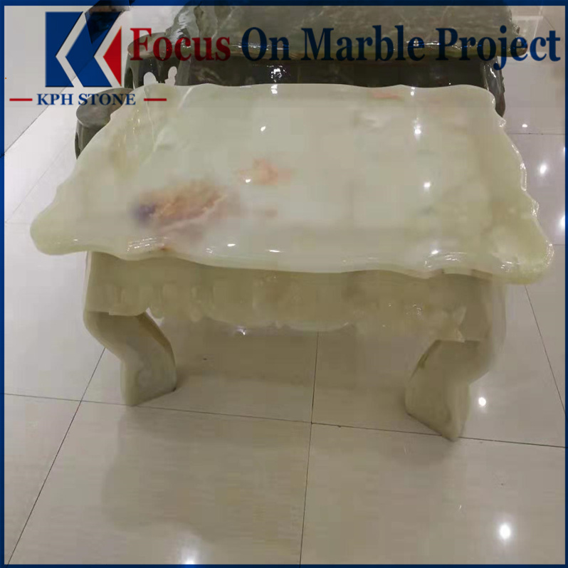 Light White Onyx Tables Tops