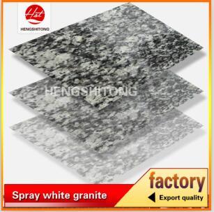 Cheap flamed spray white granite tiles