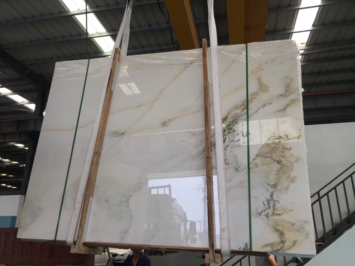 Landscape Marble Chinese White with grey painting Marble