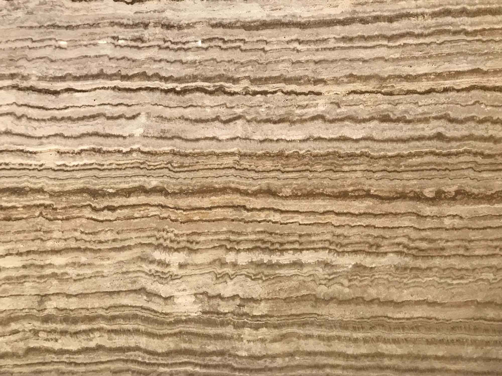 Wavy Brown Cream Travertine