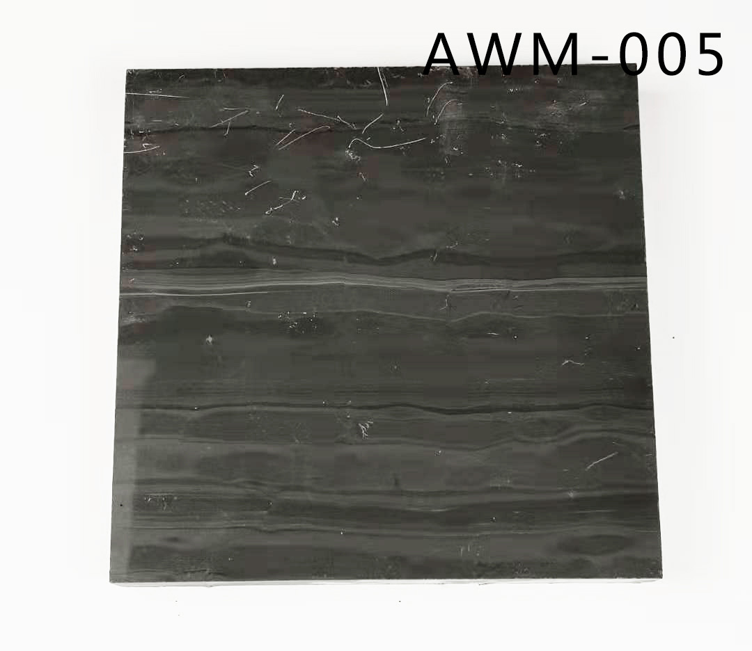 Black wood grain marble