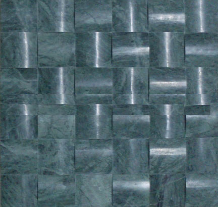 3D blue marble mosaic
