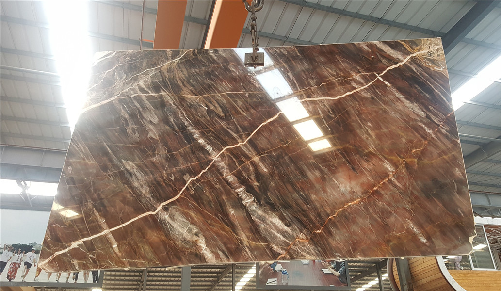 Red Marble Slabs Tiles China Venice Red for Wall Covering Floor Covering Countertop