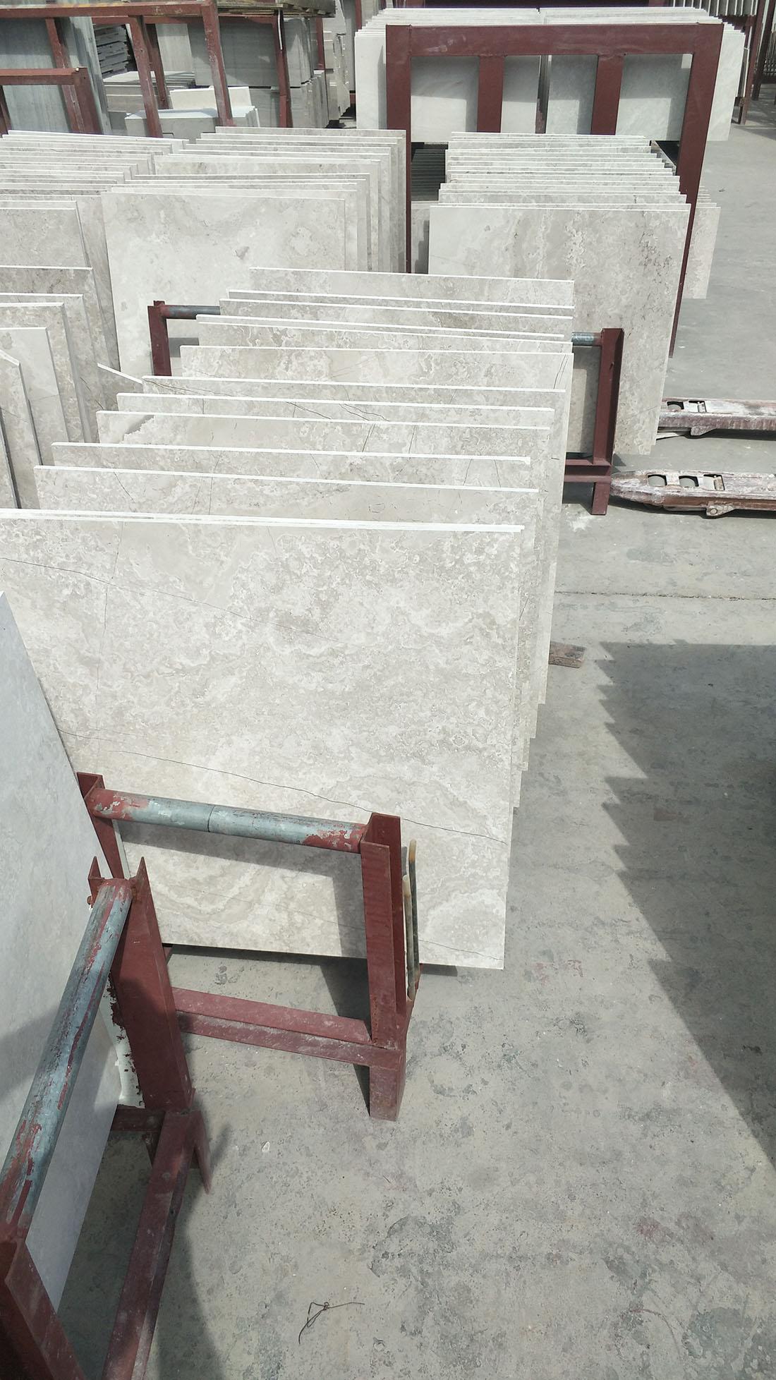 white woodvein cross cut tiles