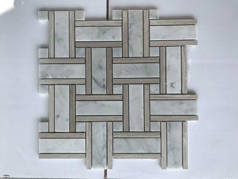 Carara White Marble Mosaic Tiles