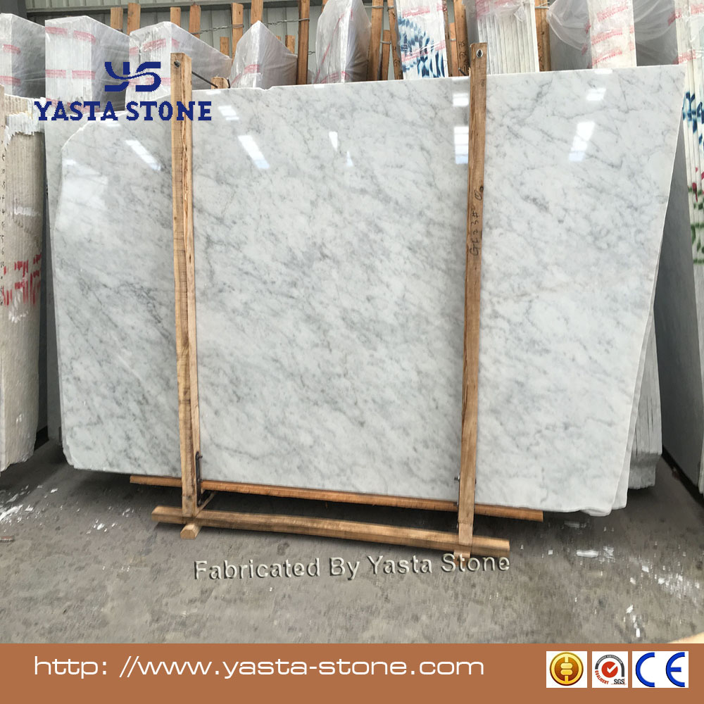 Cheap italian carrara white 1.8cm thickness marble slab on polished