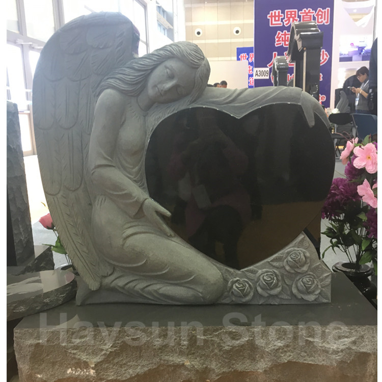 American Style Angel Heart Monument Tombstone