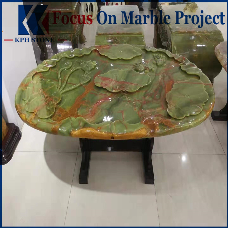 Home Green Onyx Coffee Table Tops